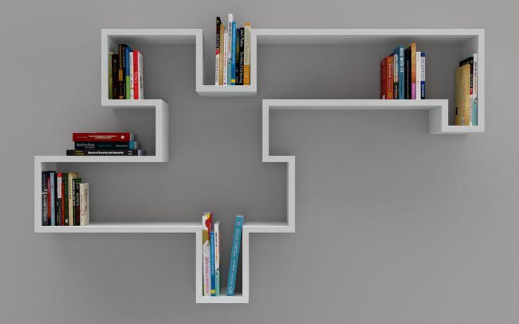 17 beste afbeeldingen over closets op pinterest tvs garderobe kast en boekenkasten - Moderne boekenkast ...