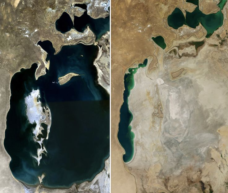 Aral Sea1989 and 2014