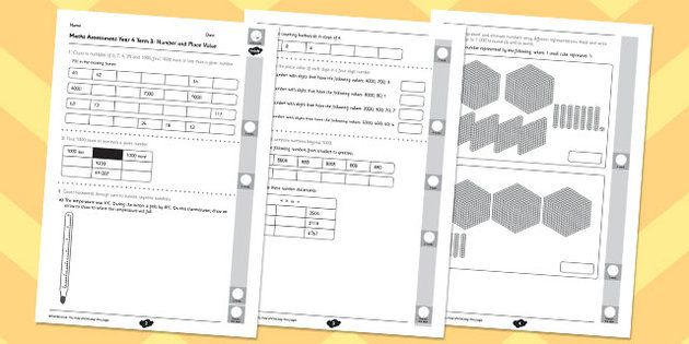 Year 4 Maths Assessment: Number and Place Value Term 3