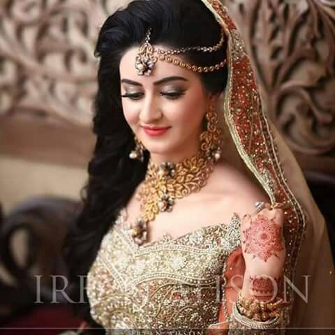 Full Bridal Makeup With Hairstyle : 335 best images about Wedding Hairstyles (Indian) by ...