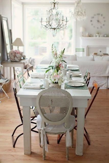 Die besten 25+ Shabby chic dining chairs Ideen auf Pinterest - wohnzimmer ideen shabby chic