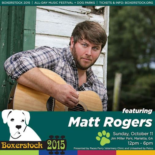 """If you want someone's attention - be different. These are words to live by for singer/songwriter Matt Rogers. Matt was nominated for Country Male Artist and his original song """"I Was Raised"""" was nominated for Video of the Year at the 2015 Georgia Music Awards. His video of """"I Was Raised"""" was recently played on CMT. Every heartbreak and bump in the road inspires Matt to write another song and we can't wait to see him perform at Boxerstock 2015. Please welcome Matt Rogers to our main stage!"""