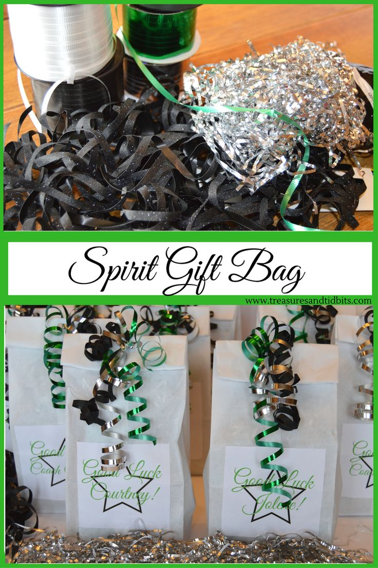 Spirit Gift Bags Goodie bag full of fun stuff for the Dance Team State Competition