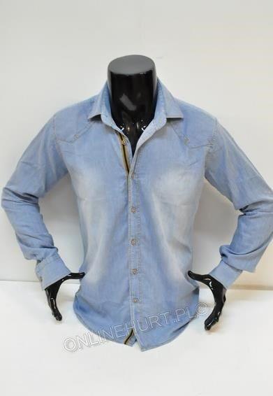 Koszula Męska Jeans Artista ONL0489  _E1 (M-3XL)