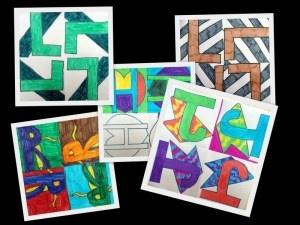 math art  Flips, rotations and turns