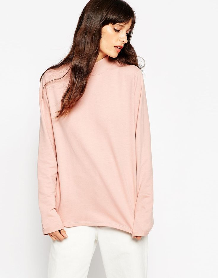 ASOS Sweatshirt With High Neck In Cotton