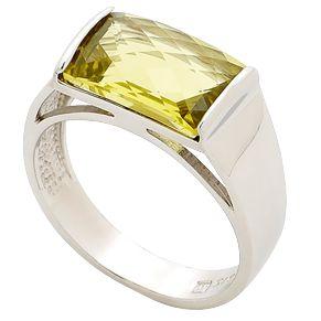 Beautiful Lemon Quartz Dress Ring