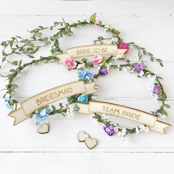 Afternoon Tea Hen Party Ideas: Hen Party Floral Head Piece With Personalised Sign In 2019