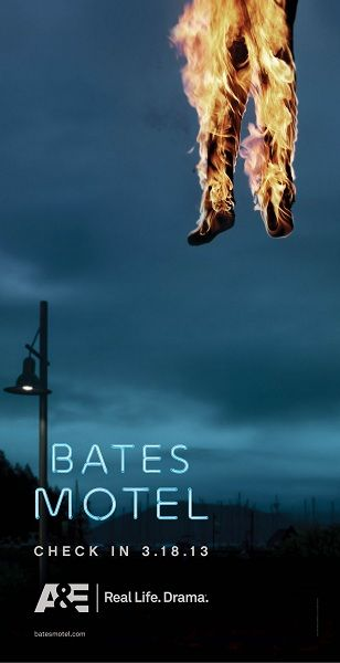 Poster for the new series Bates Motel, a prequel to Alfred Hitchcock's Psycho, focusing on the teenage years of Norman Bates.