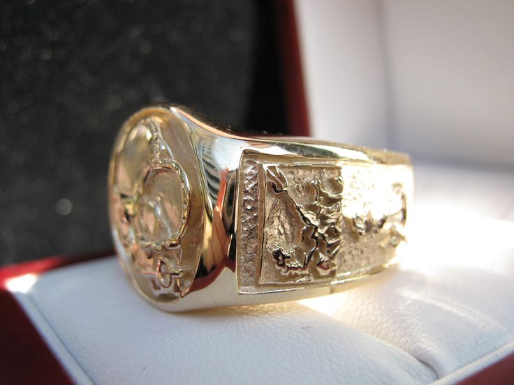 Signet Ring Divers in 18k Solid Gold