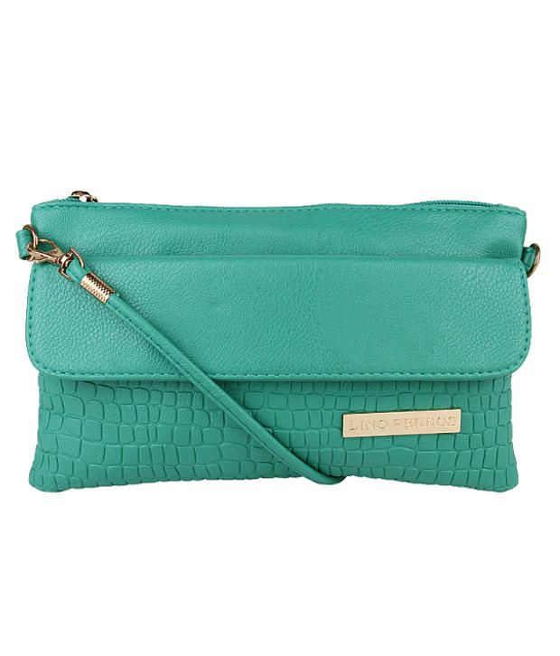 Lino Perros Lwsl00154 Green Green Sling Bags, http://www.snapdeal.com/product/lino-perros-lwsl00154-green-green/80717820