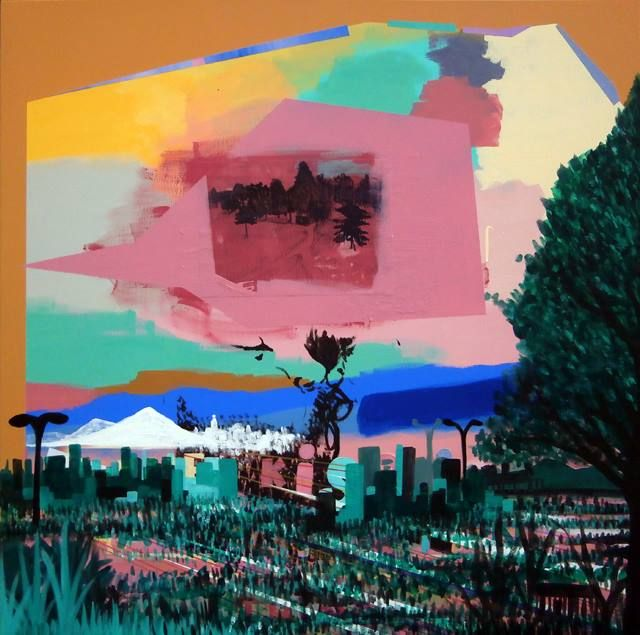 """Landscape"" enamel and acrilyc on canvas 100x100 cm 2013 info@spaziomeme.org"