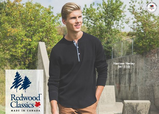 We're redefining the henley with our brand new Harrison Henley: stylish, warm and, as always, #MadeInCanada.