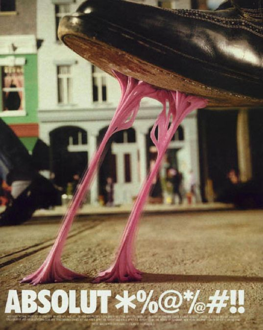 Then they started playing with shapes. | The Best Of The Great Absolut Ads