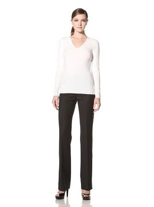 Calvin Klein Collection Women's Lemon Fly, V-Neck Sweater