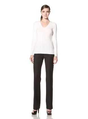 Calvin Klein Collection Women's Lemon Fly, V-Neck Sweater