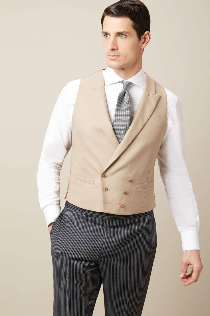 Wool Double Breasted Morning Waistcoat | Hackett