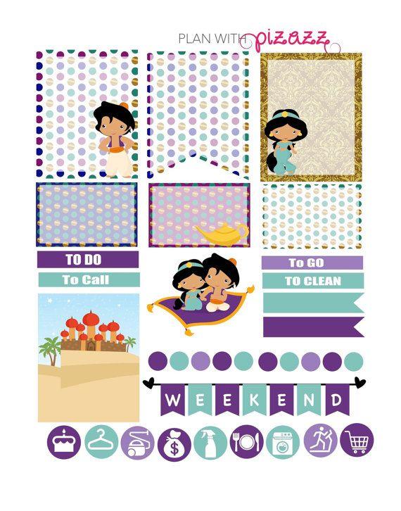 ALADDIN Inspired Weekly theme Planner sticker by PlanwithPizazz