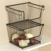 Get York Stackable Pantry Storage Basket - Large open set/2 with FREE 2-day shipping @ ShopRunner.