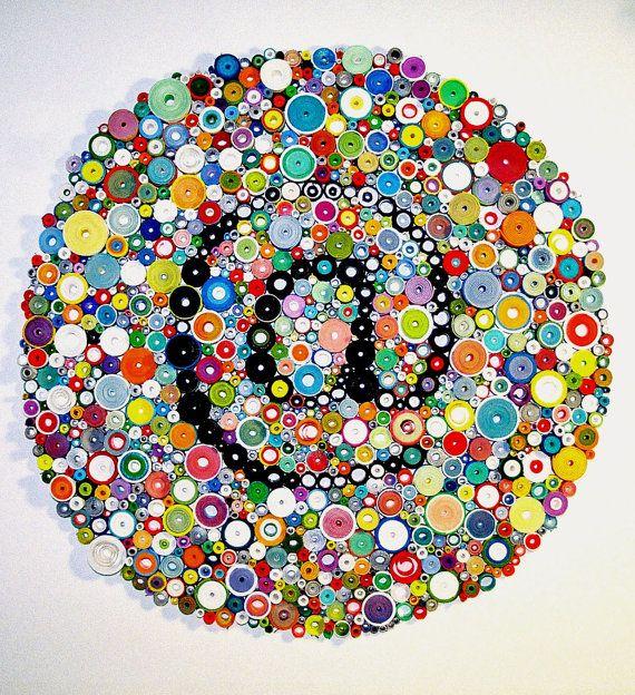 Beaux-arts tridimensionnel papier original, roulé le papier d'art, « arobas » sur Etsy, 1.162,26€