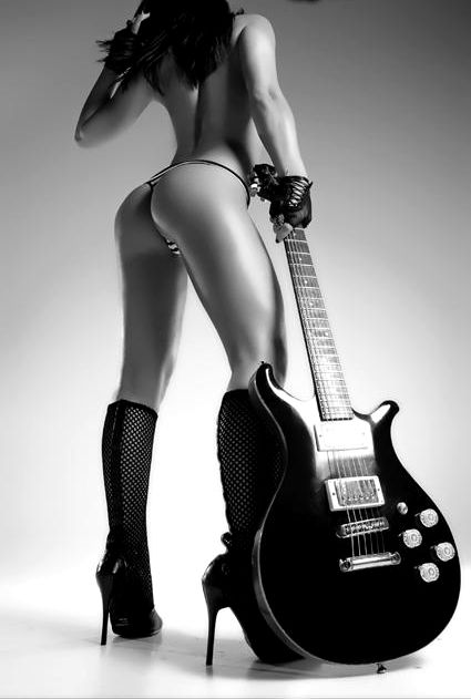 Hot rock and roll girls naked think