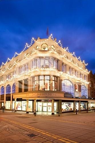 Jarrolds Department Store illuminated at Christmas by Chris Herring