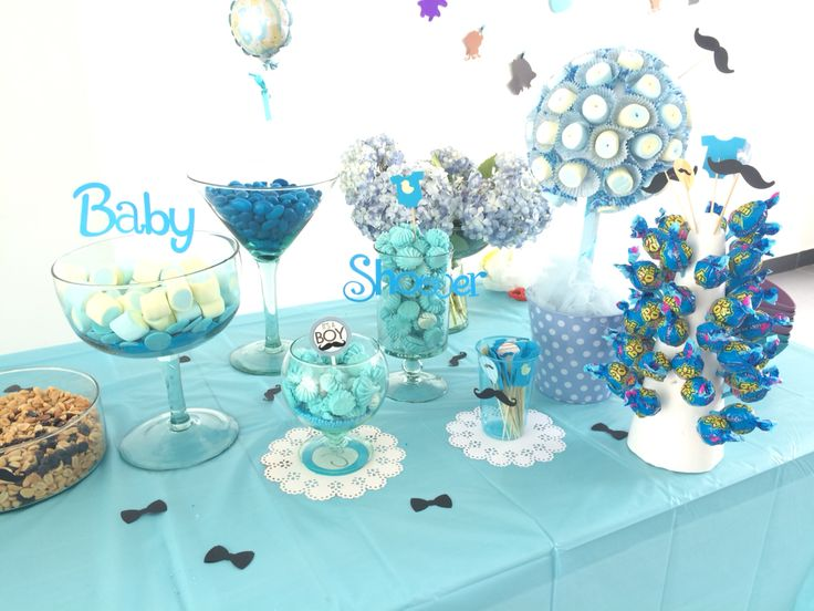 Baby shower candy bar