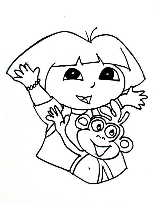 dora color page coloring pages for kids