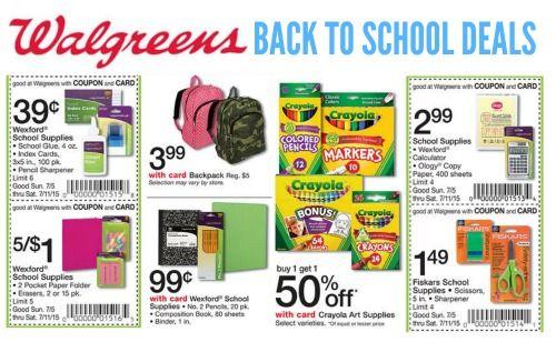Walgreens Back to School Deals 2015 | http://www.passionforsavings.com/weekly-ad/walgreens-back-to-school-deals/