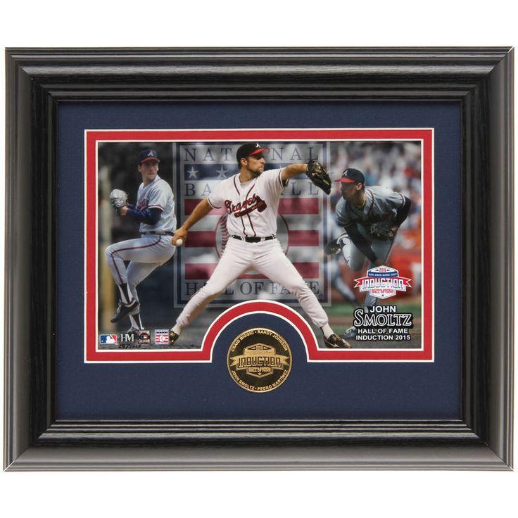 John Smoltz Atlanta Braves Highland Mint Hall of Fame Desktop Photo and Coin Set