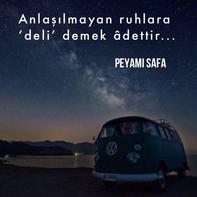 Anlaşılmayan ruhlara deli demek âdettir.   - Peyami Safa