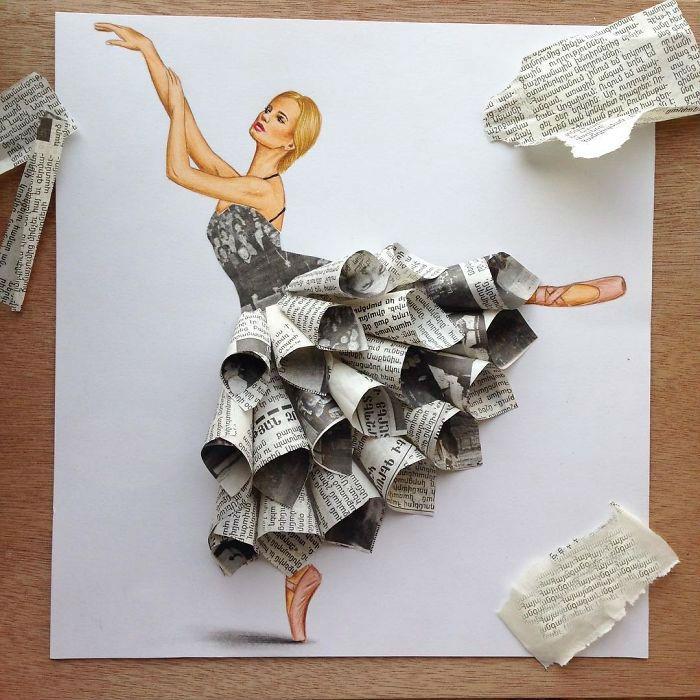 Мода на бумажные платья в самом разгаре.