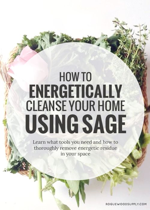 Our home's can hang on to energetic residue that can negatively affect us. Saging your home can remove any lingering buildup! Check out this how-to! | Rogue Wood Supply
