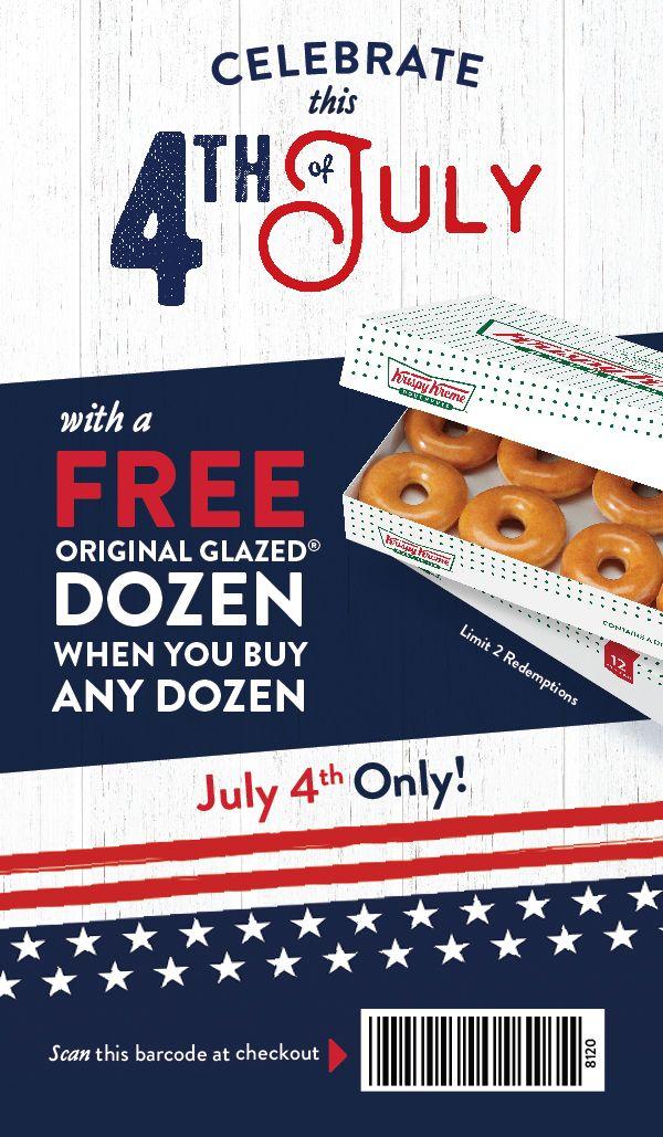 Get a free Original Glazed dozen when you buy any dozen