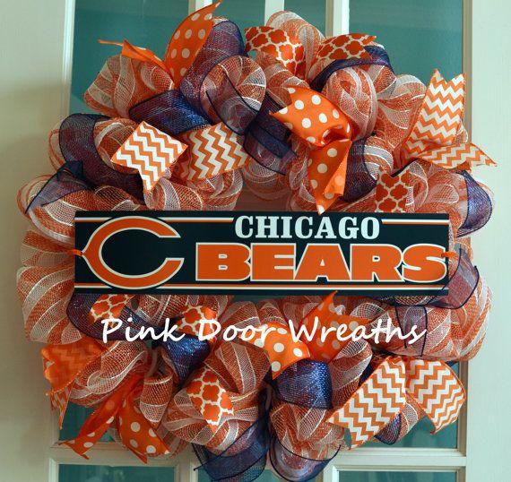 Made to Order  Wreath Door NFL CHICAGO BEARS by PinkDoorWreaths, $60.00
