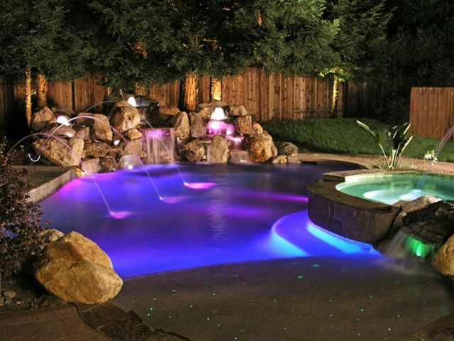 Outdoor Pool Lighting Ideas above ground pools rope lighting around the pool home backyard pinterest ground pools Led Color Pool Lights Google Search