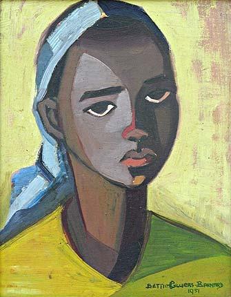 """Portrait of an African Maiden"" by Bettie Cilliers-Barnard (1951)"