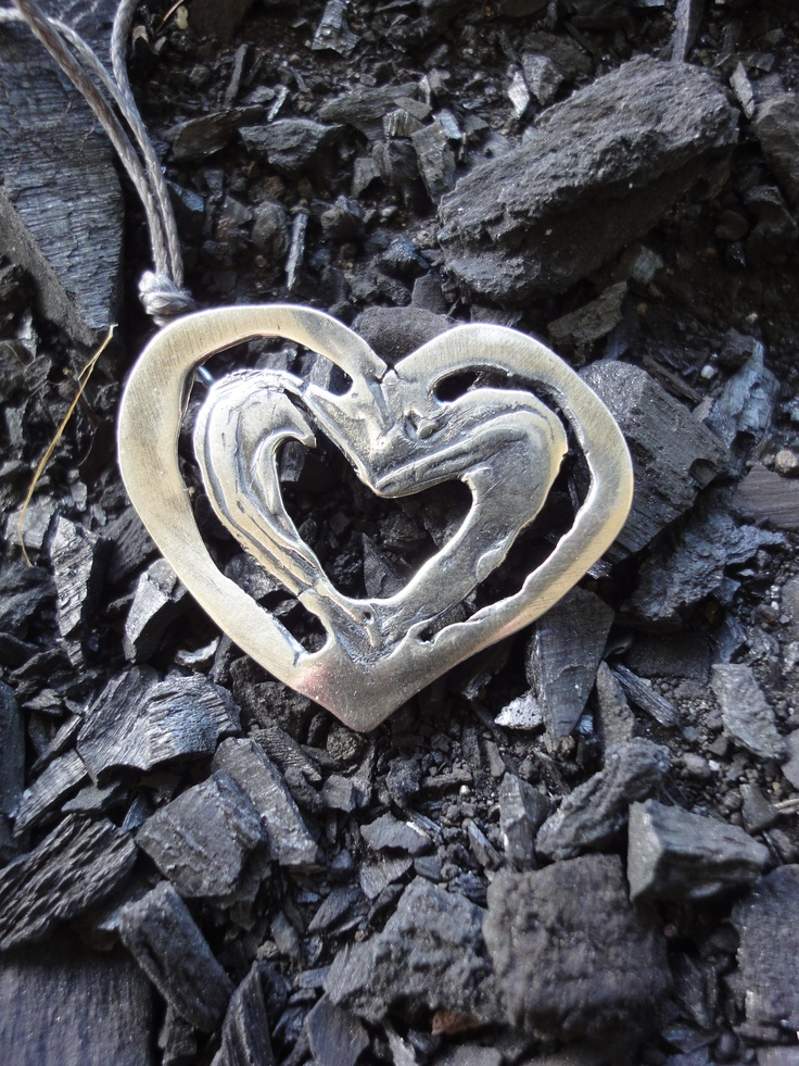 pendant  leaning     silver 925