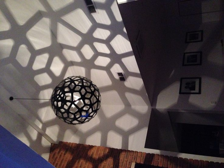 David Trubridge Coral Black Painted Pendant Light - who needs a TV when you can gaze at this every evening!