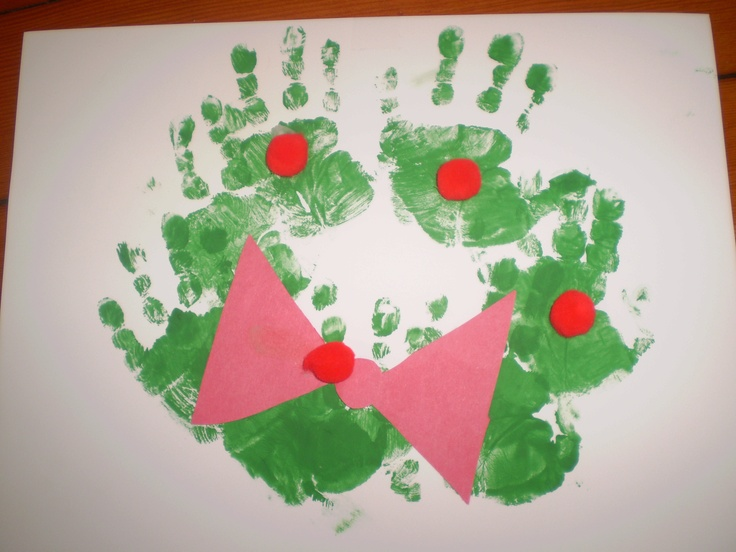 Handprint Wreath: Christmas Fun, Handprint Wreaths