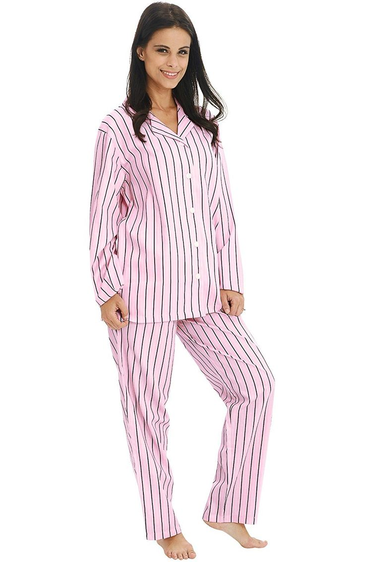 Del Rossa Women's Cotton Pajamas, Long Woven Pj Set -- Want to know more, click on the image.