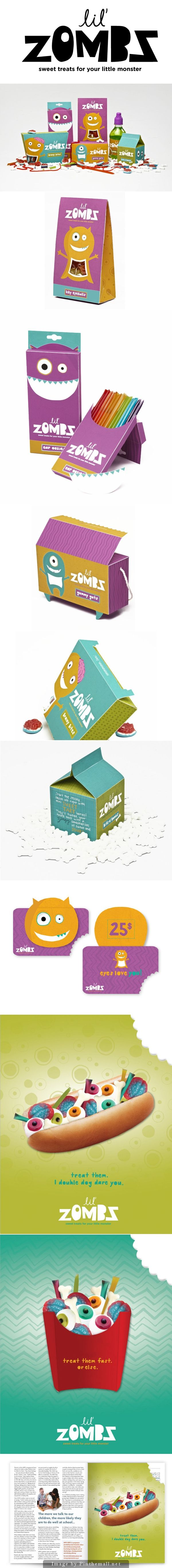 Lil'Zombs just in time for Halloween packaging curated by Packaging Diva PD created via https://www.behance.net/gallery/7199521/lilzombz