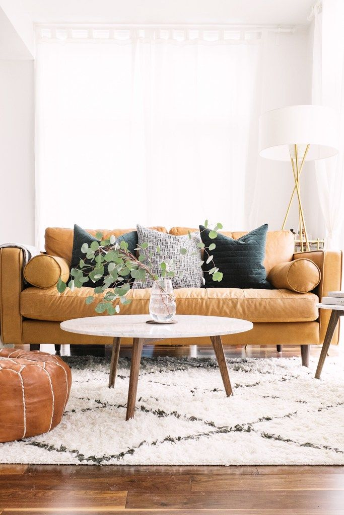 Living room redesign with Rugs USA's Marrakesh Shag!