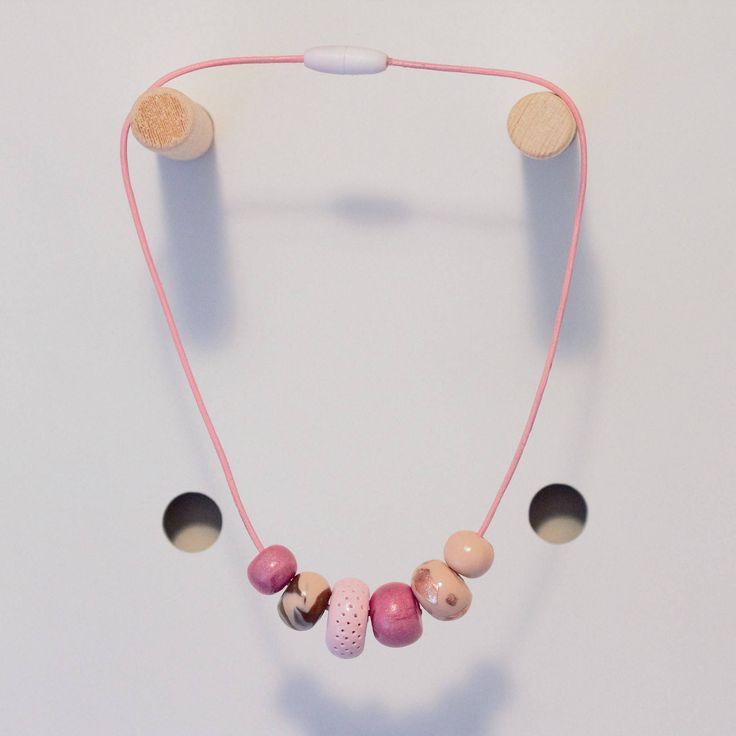Kids Fashion Necklace Pink by thirteensixteen on Etsy