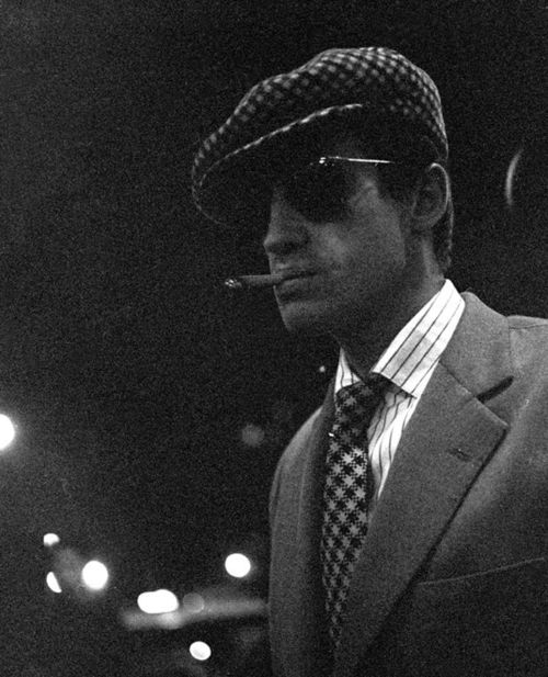 Nothing cooler than Jean-Paul Belmondo in a pair of Solamor sunglasses. At night.