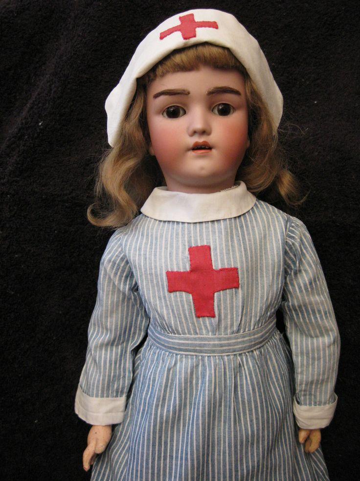 Handwerk Nurse Antique Dolls My Own Collection