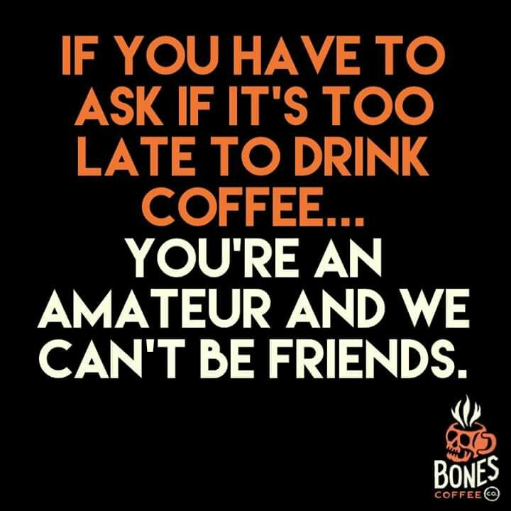 Never too late for #coffee