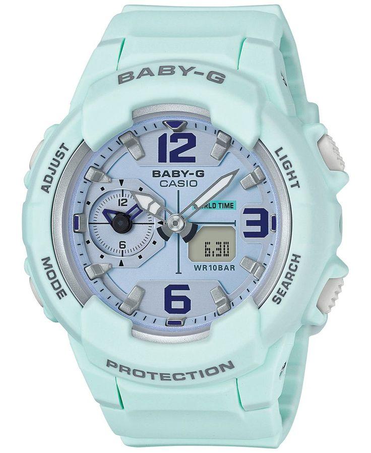 G-Shock Women's Analog-Digital Baby-g Sky Blue Resin Strap Watch 49mm BGA230SC-3B