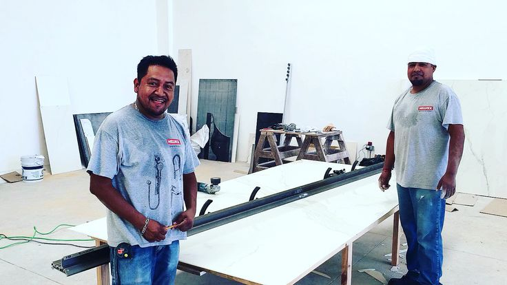 Tools Kit for countertop and cut / cut 45 with large slabs. Kit Base - Desk - Cut 45 plu. tks helvex