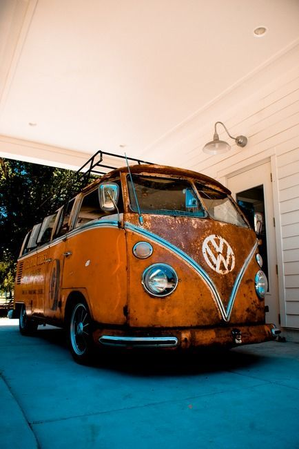 VW Bus #rust #ratrod #van ♠... X Bros Apparel Vintage Motor T-shirts, Volkswagen Beetle & Bus T-shirts, Great price… ♠
